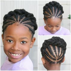 Very cute braided updo style for little naturals