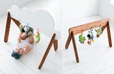 Handmade Wooden Baby Gym - Photo 1
