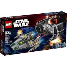 Lego Star Wars Vader's TIE Advanced vs. A-Wing Starfighter 75150, Multicolor