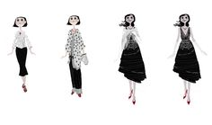 Character designs for Coraline