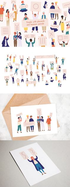 Banner Template, Cartoon Styles, Photoshop, Concept, Illustration, People, Fitted Wardrobes, Illustrations, People Illustration