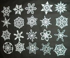 How to Make 6-Pointed Paper Snowflakes, going to try something like this with the kids over Christmas break :)