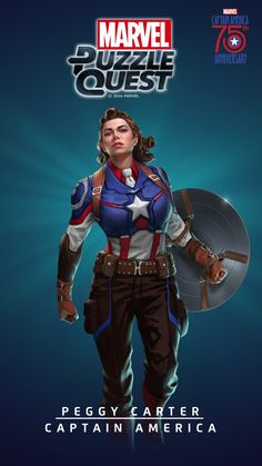 Peggy Carter / Captain America - Marvel Puzzle Quest