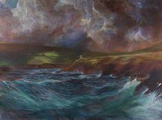 Inis Tuaisceart From Clogher - Carol Cronin Canvas Size, Oil On Canvas, Creative Skills, Fine Art, Sculpture, Gallery, Artwork, Artist, Medium