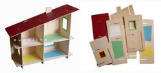 Wooden doll house by Eupalina Dollhouse Toys, Wooden Dollhouse, Diorama Kids, Wood Crafts, Diy And Crafts, Origami, Craft Box, Miniature Houses, Wood Toys