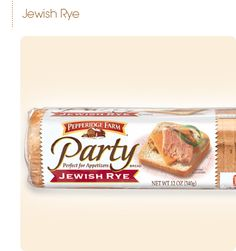 If we can find any bread like this, good to use, make a spread ahead of time, each one can actually be cut in half diagonally  Pepperidge Farm® - Jewish Rye Party Bread (Seasonal)