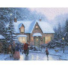 Skaters Pond | Thomas Kinkade