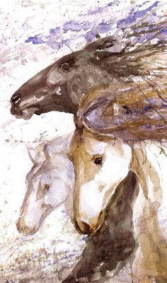 Horse Art Racing Abstract Painting Watercolor Horse Wall art Print Equestrian Decor Equine Gift for horse lover Wild horse gifts, dressage  Horse racing high quality fine art print of my original watercolor painting. It is the work of a watercolor series Portraits of the Heart   Size paper: