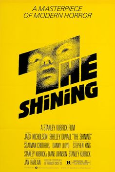 The Shining - one sheet poster - restrike - USA - Stanley Kubrick - Jack Nicholson - Saul Bass design Iconic Movie Posters, Horror Movie Posters, Iconic Movies, Horror Movies, Good Movies, Scary Movies, Greatest Movies, Classic Movies, Theatre Posters