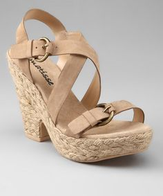 Take a look at this Natural Pout Crisscross Sandal by Coconuts & Matisse on #zulily today!