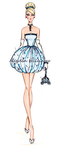 The Disney Divas collection by Hayden Williams: Cinderella I've pinned this as the theme of the panto is more 'youthy' and modern. This is a great start of thinking of a textiles pathway for my peers, buh illustrating this onto the posters and tickets would give a good recognition to the audience.