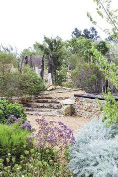 'n Waterwys lushof van vetplante en fynbos Outdoor Decor, Plants, Plant, Planets