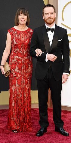Adele and Michael Fassbender #Oscars2014 #Oscars #STYLAMERICAN