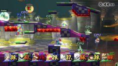 Super Smash Bros. Wii U - 8 Player Match 4v4 - Team Battle - Frezhor - N...