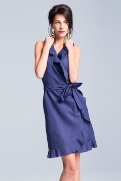 Navy Wash Mini Florence Dress