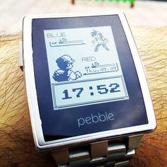 Con tanta fiebre #pokemon con #pokemongo lo mismo está es la #watchface #pebble más adecuada #smartwatch