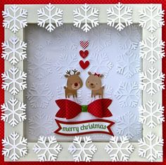 Love the clear front and the dimensional bow! Doodlebug Design Inc Blog: Shadow Boxes: Home for the Holidays