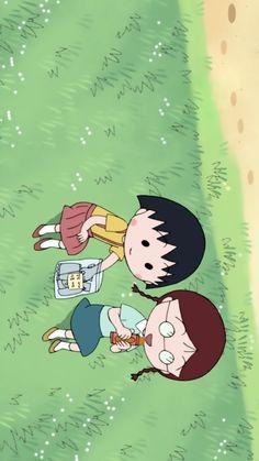Sakura and Tamae Wallpaper Wa, Chibi Wallpaper, Cute Disney Wallpaper, Kawaii Wallpaper, Wallpaper Iphone Cute, Cute Cartoon Wallpapers, Cartoon Pics, Vintage Cartoons, Old Cartoons