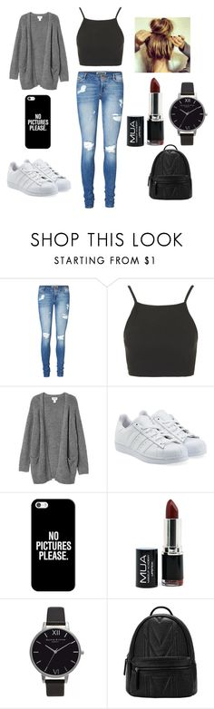 """"" by tess-vanputte ❤ liked on Polyvore featuring Vero Moda, Topshop, Monki, adidas Originals, Casetify and Olivia Burton"