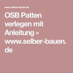 OSB Patten verlegen mit Anleitung » www.selber-bauen.de
