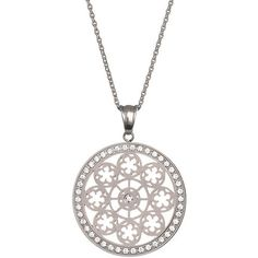 Preciosa Oceľový náhrdelník s kryštálmi Rosette 7239 00 Rosettes, Women's Fashion, Pendant Necklace, Silver, Jewelry, Fashion Women, Jewlery, Jewerly, Schmuck