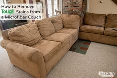 How To Clean A Microfiber Couch Diy Cleaning