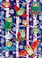 Metsäntäydeltä pöllöjä lumisateessa