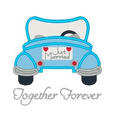 Just Married Machine Embroidery Design