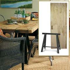 Distressed Wood Table | Create a Rustic French Dining Room | Photos ...