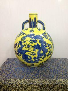 Rares chinois Antique Oriental ancien Vase en porcelaine de Famille-Rose YongZheng dynastie Qing Da avec Dragon Phoenix navire gratuit