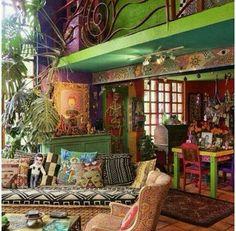 Perceptive tabulated bohemian home decor gypsy Signature Series Bohemian House, Bohemian Interior, Bohemian Design, Bohemian Living, Hippie House Decor, Hippie Bedroom Decor, 70s Bedroom, Boho Life, Gypsy Decor