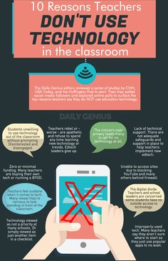 10 reasons teachers do NOT use education technology - Daily Genius Teaching Technology, Technology Integration, Educational Technology, Technology Quotes, Digital Technology, Education Quotes For Teachers, Education College, Elementary Education, Art Education