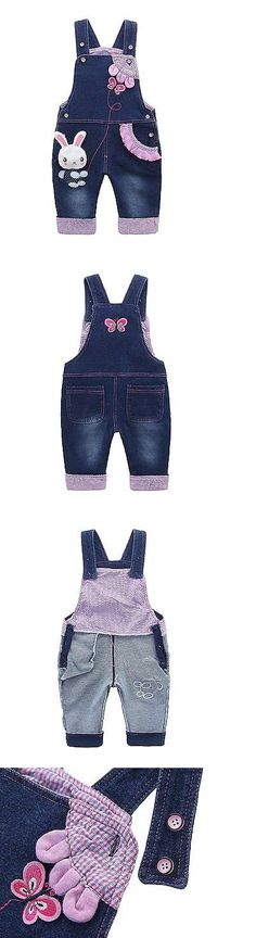 Bottoms 163175: Kids Baby Girls Dungarees Toddler Bib Overall Denim Jeans With Suspenders Bunny -> BUY IT NOW ONLY: $30.01 on eBay!
