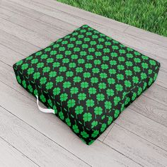 Saint Patrick's Day Outdoor Floor Cushion by scardesign