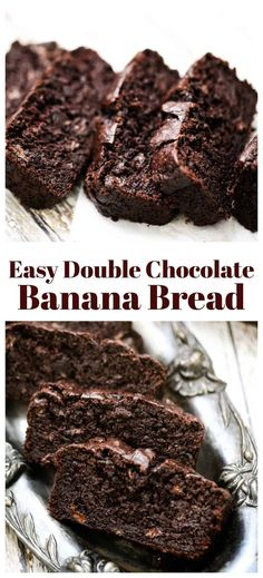 Milk Chocolate Chip Cookies, Chocolate Chip Banana Bread, Chocolate Flavors, Chocolate Recipes, Chocolate Chocolate, Double Chocolate Chip Cookie Recipe, Double Chocolate Cake, Make Banana Bread, Banana Bread Recipes