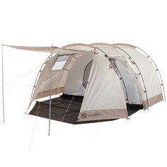 Skandika Alavu - 16055 - Tente tunnel familiale - 4 personnes - 410x260 cm- beige/marron: Amazon.fr: Sports et Loisirs