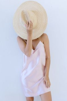Considering slipping into something more 'comfortable'? Then let it be this DIY silk slip dress - a simple piece that has come to define my weekends. Simple Dress Pattern, Silk Slip, Slip Dress Silk, Satin Slip, Pink Satin, Dress Tutorials, Dress Sewing Patterns, Pattern Sewing, Diy Dress