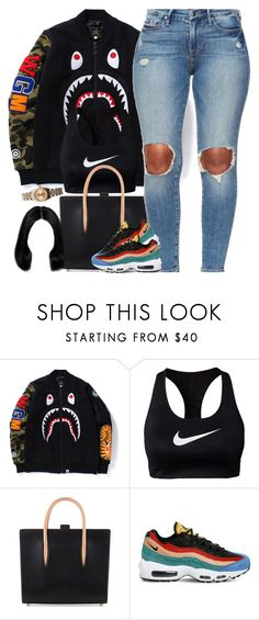 """""""Long Day"""" by oh-aurora ❤ liked on Polyvore featuring NIKE, Christian Louboutin and Rolex"""