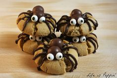 spooky spider cookies peanut butter