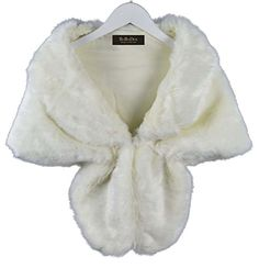 RoRoDox Warm Faux Fur Wedding Shawl Perfect for Wedding/party/show (White Plus Size) -- Check out the image by visiting the link.