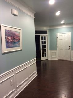 Sherwin Williams Rain  This is the same color of walls, flooring and trim I want!