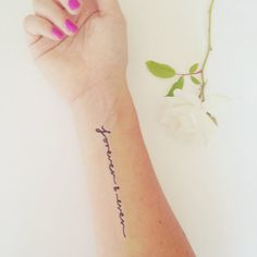 """A """"forever and ever"""" tat (that won't last quite that long - it's temporary)"""