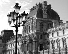 Paris Photography - The Louvre In Black and White - Travel, Architecture, French, France, European, Historic, Fine Art Photography $30.00