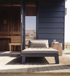 Piet Boon - black siding with weathered teak deck