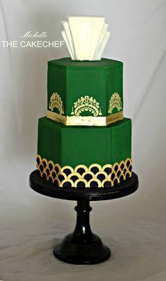 Arte Deco cake.