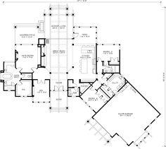 Craftsman House Plan 87400 Level One