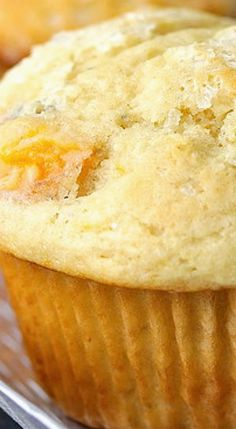 Fresh Peach Muffins.  Wow...awesome quick, could adjust for any fruits, not too sweet or too heavy..perfect!