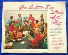 VTG Stanhome Brochure AD Catalog Decor Book Stanley Home Products Hostess Party | eBay