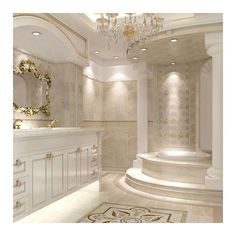 55 Amazing Luxury Bathroom Designs ❤ liked on Polyvore featuring home, bed & bath, bath and bath accessories