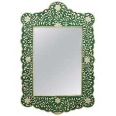 Indian Inlaid Bone Mirror   From a unique collection of antique and modern wall mirrors at https://www.1stdibs.com/furniture/mirrors/wall-mirrors/